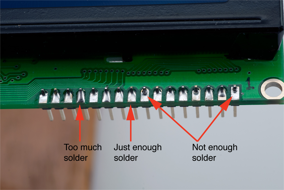 Solder The Header To Lcd Panel Soldering Rcuit Click For Larger Image