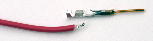 embly of the Male Connector Pins on