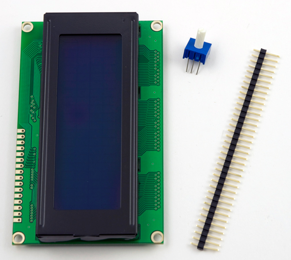 Solder The Header To Lcd Panel