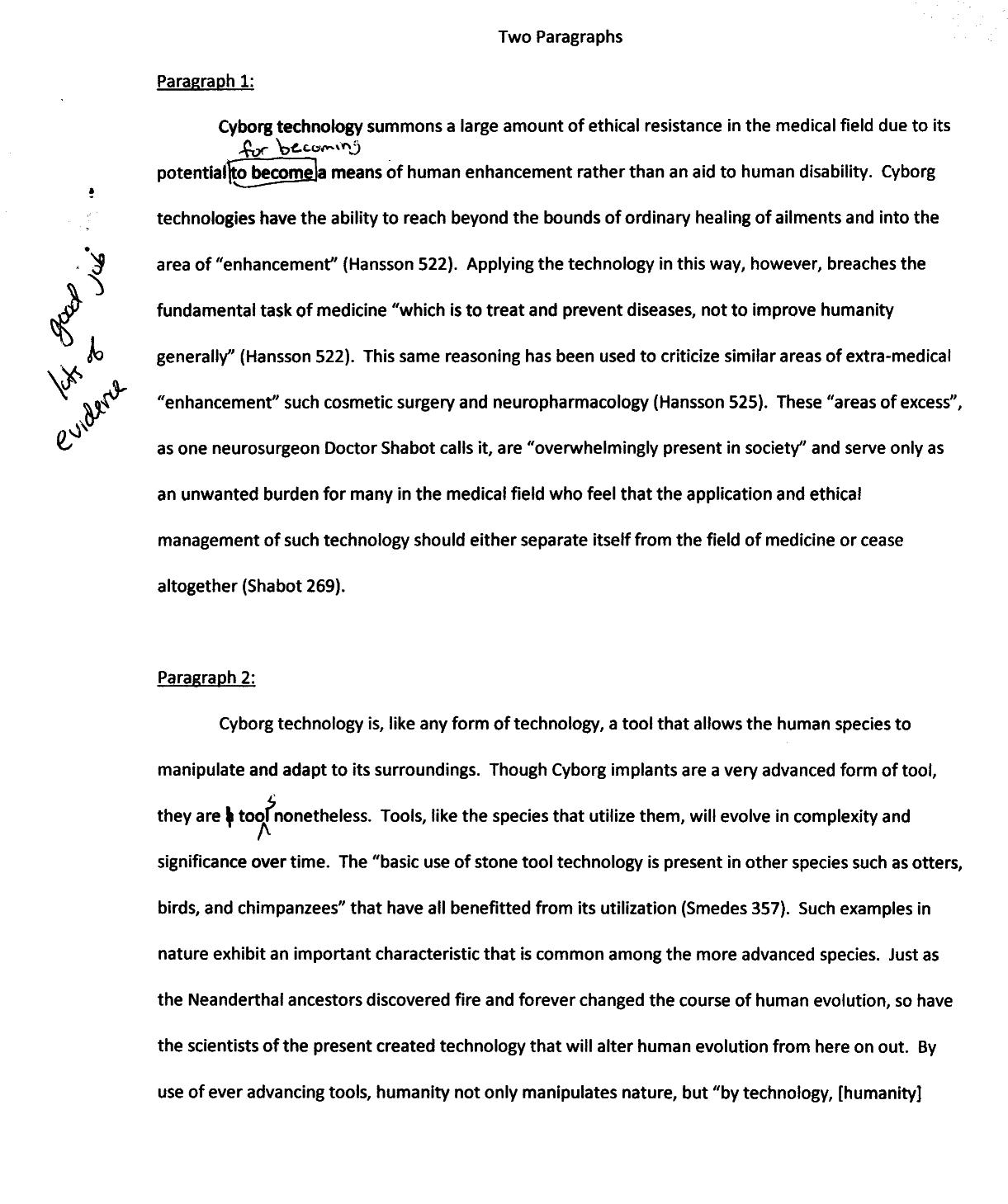 3 paragraph book report