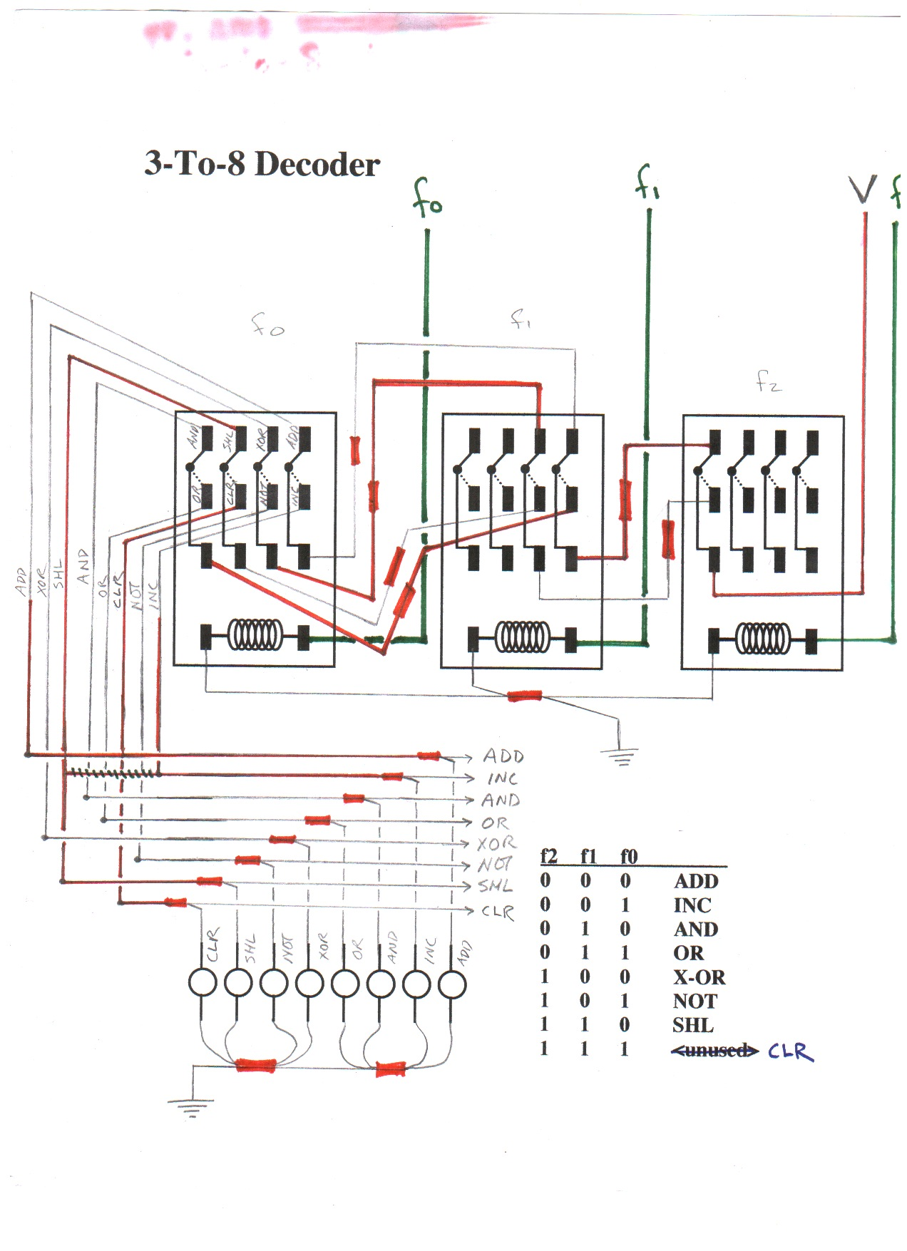 Circuit Diagrams Relay For 3 To 8 Decoder 2