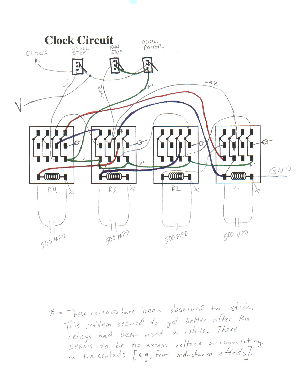 Circuit Diagrams Relay Design State Sequencing