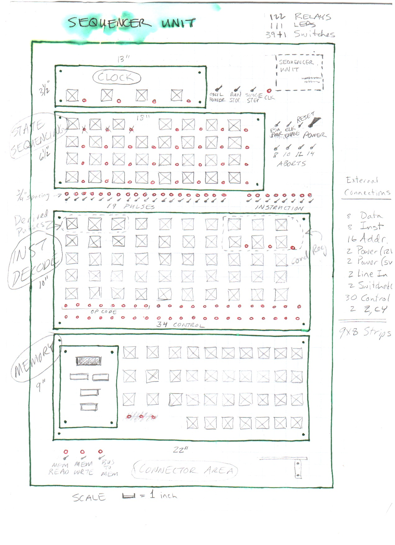 Circuit Diagrams 0 9 Counter Diagram Frontpanel Sequencerunit