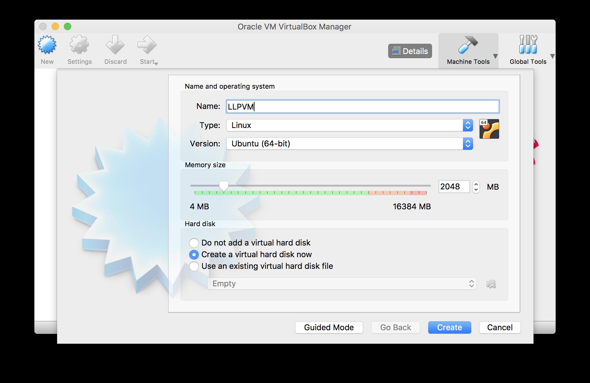Configuring a Virtual Machine